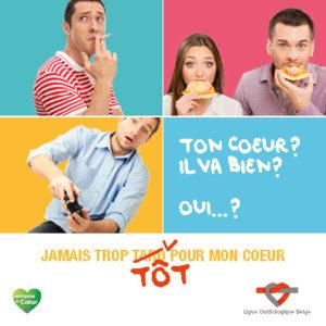 """Leaflet de Campagne """"Jamais trop tot pour mon cœur"""""""