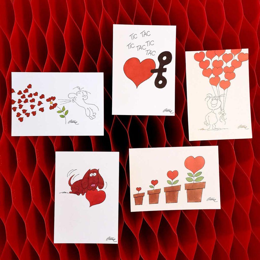 5 Cartes de vœux originales